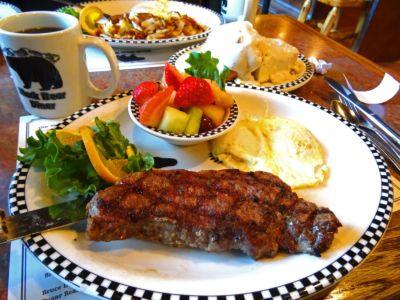 Breakfast At Black Bear Diner-salinas